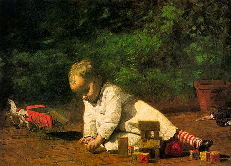 Baby at Play, by Thomas Eakins, 1876.