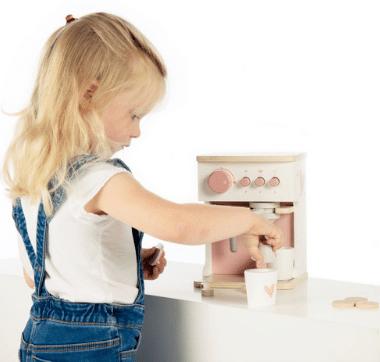 Label Label fa játék kávéfőző szett rózsaszín