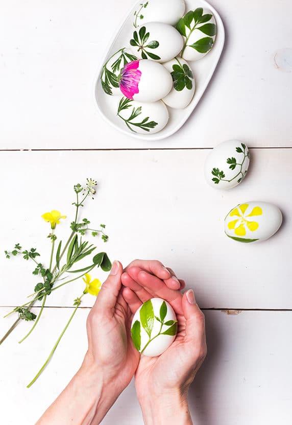 Virágos húsvéti tojás festő ötletek a Minimagon