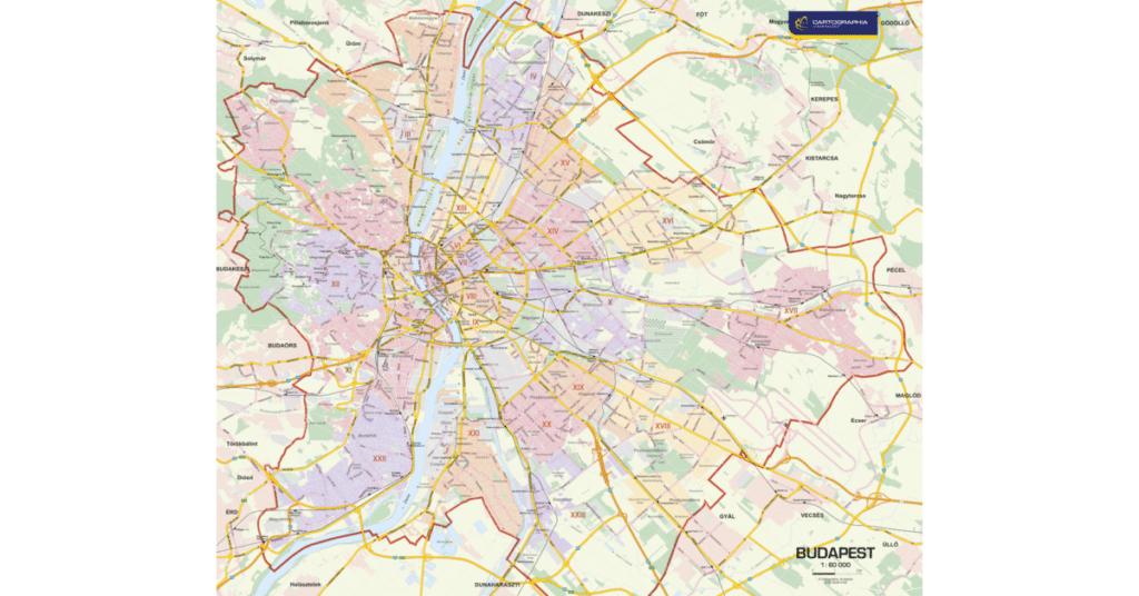 budapest térkép minimag