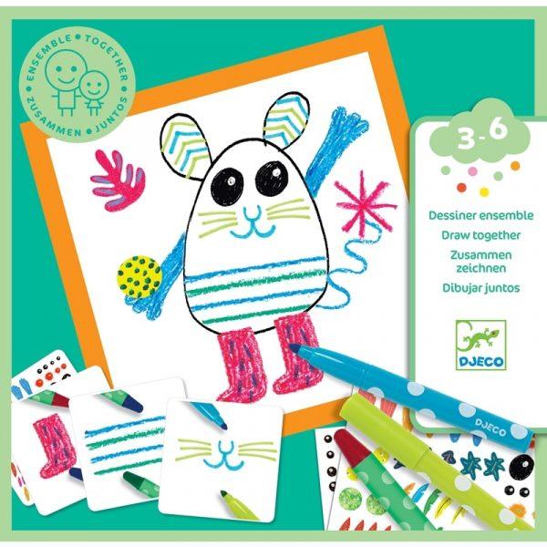 a Rajzolós kreatív készlet kicsiknek - Vicces állatok