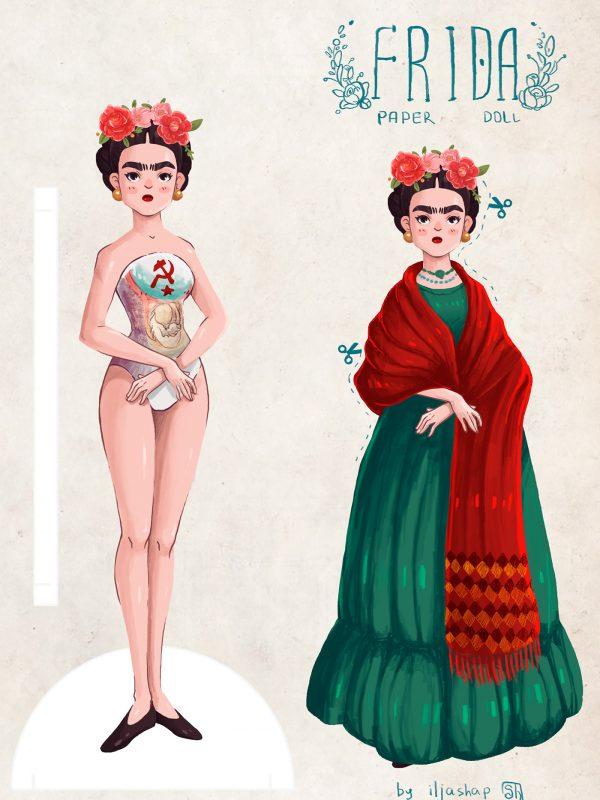 egy Frida papírbaba