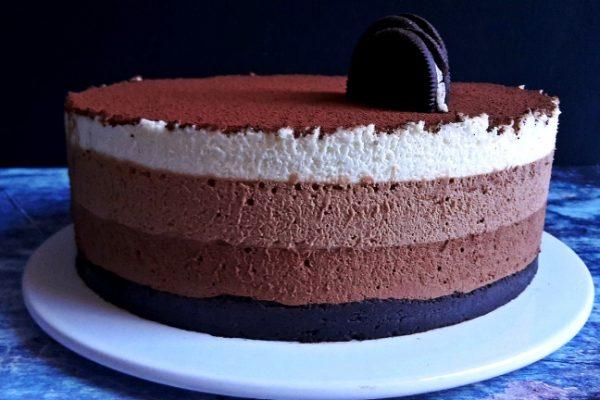 Mousse torta: csoki hátán csoki