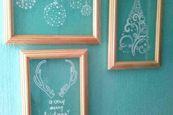 Bűbájos síküveg dekorációk a téli ünnepekre