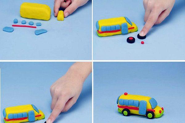 Gyurmafigurák gyerekeknek - 10+1 vagány jármű gyurmából