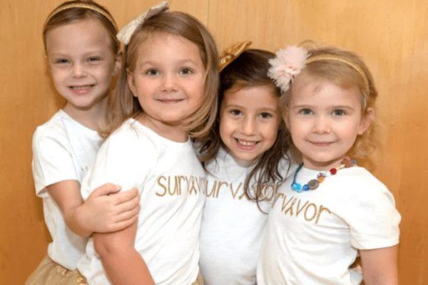 Ez a négy kislány együtt győzte le a rákot – most újra találkoztak egy fotó kedvéért