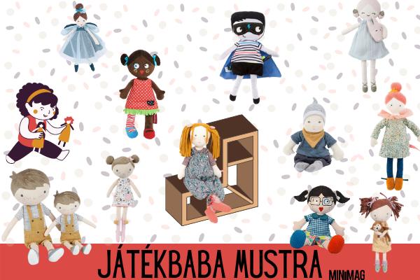 puha, textil játékbabák a Minipiacról