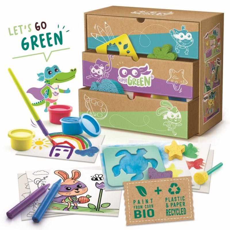 Színezés, festés, nyomdázás 3 in 1 - bio, környezetbarát anyagokkal