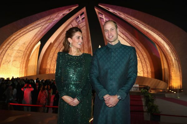ISLAMABAD, PAKISTAN - OCTOBER 15:  Prince William, Duke of Cambridge and Catherine, Duchess of Cambridge attend a special reception hosted by the British High Commissioner Thomas Drew, at the Pakistan National Monument, during day two of their royal tour of Pakistan on October 15, 2019 in Islamabad, Pakistan.  (Photo by Chris Jackson/Getty Images)