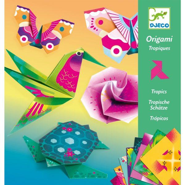 djeco origami trópusi madarak