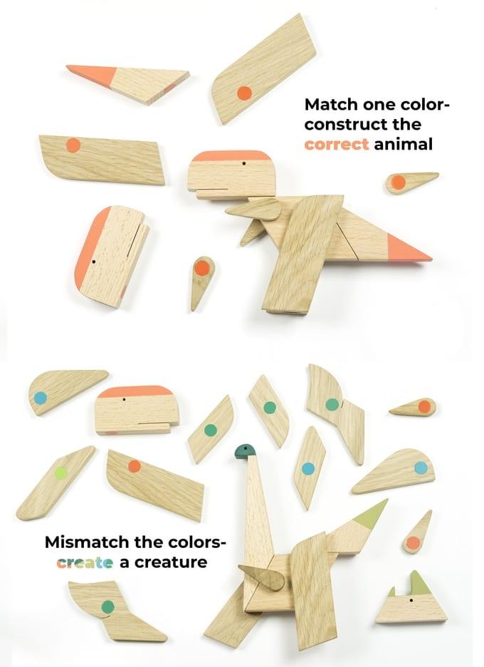 Az elbűvölő ESNAF fa- és mágneses játékok a minimagon dinoszauros