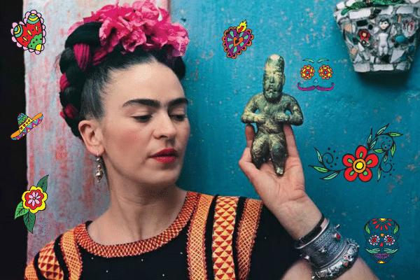 Frida Kahlo ihletésű alkotások, díszek, játékok