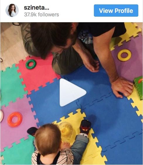 Tüneményes videót posztolt kisfiáról Szinetár Dóra