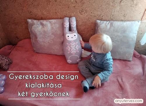 Gyerekszoba design kialakítása két gyerkőcnek