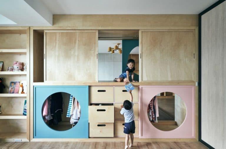 Gyerekszoba design – egyedi térelválasztás és izgalmas bunker