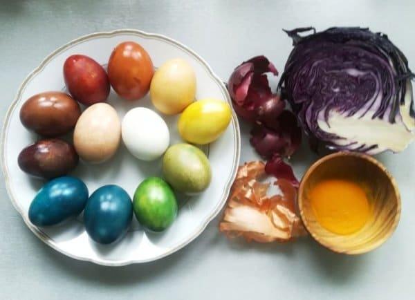 Húsvéti tojásfestés természetesen