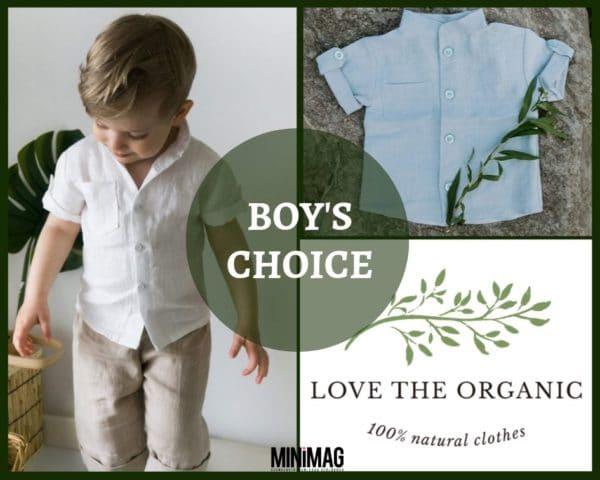 Organikus pamut kisfiú ing