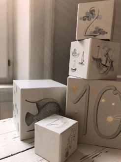 Konges Slojd összerakható karton kockák/torony