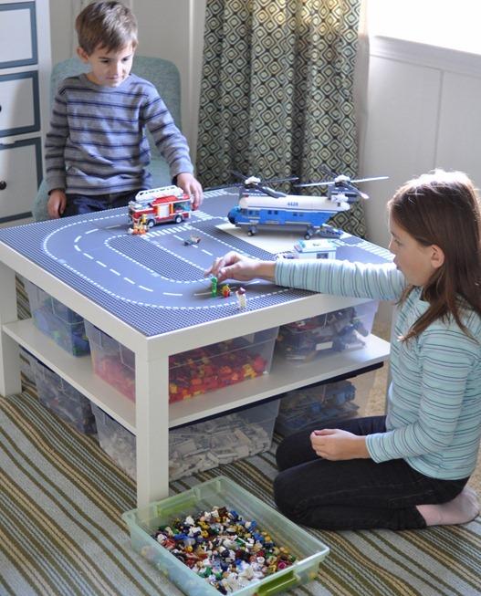Ikea lack asztalból Lego tároló