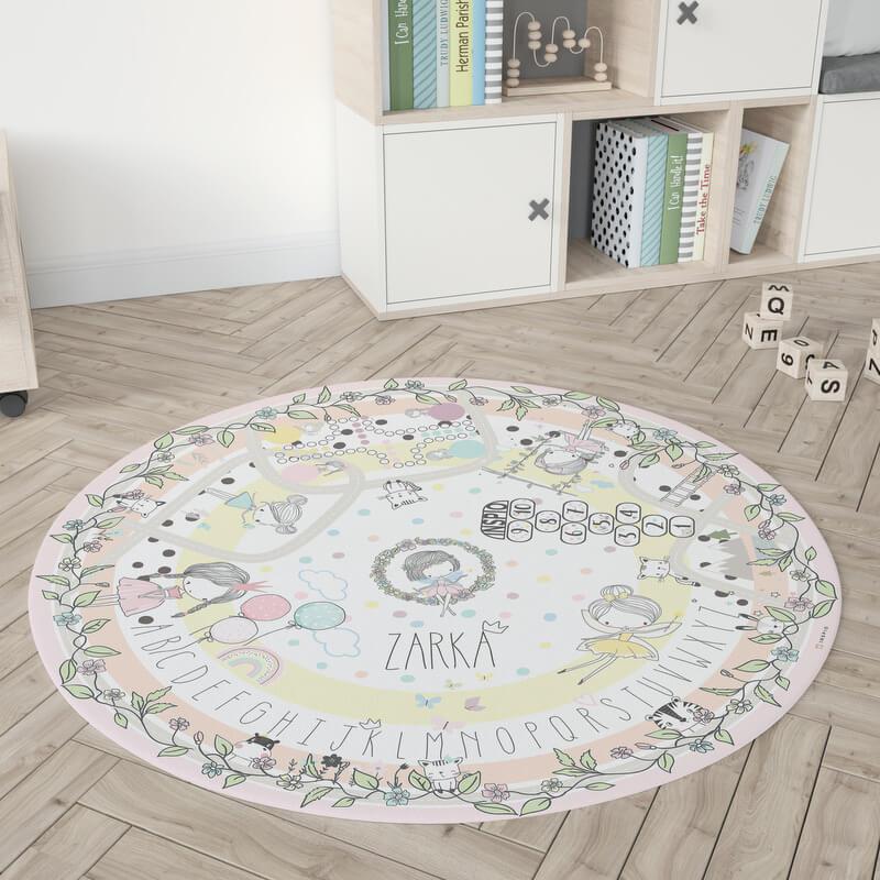 Tündéres kör alakú gyerekszőnyeg