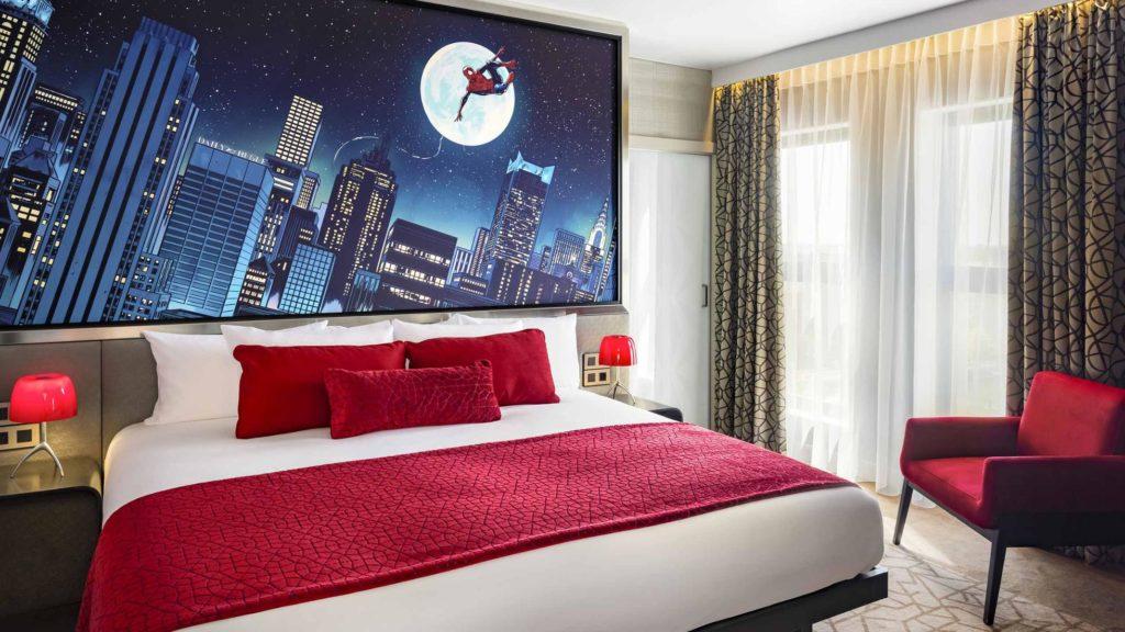 marvel hotel pókember lakosztály minimag