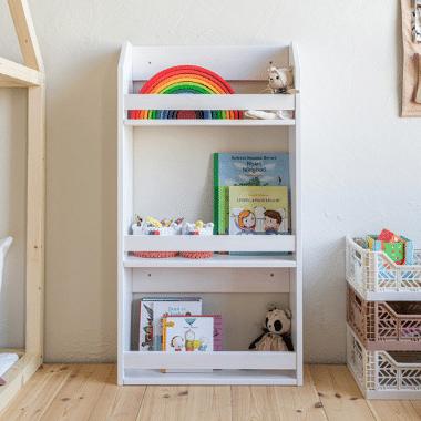 MaxiBOOK gyerek könyvespolc – fehér