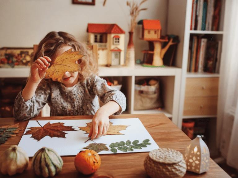 őszi dekorációk gyerekkel