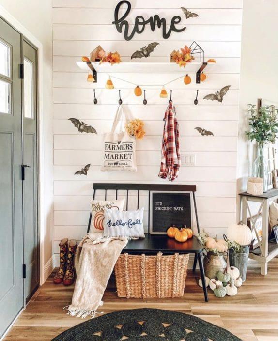 őszi előszobai dekoráció