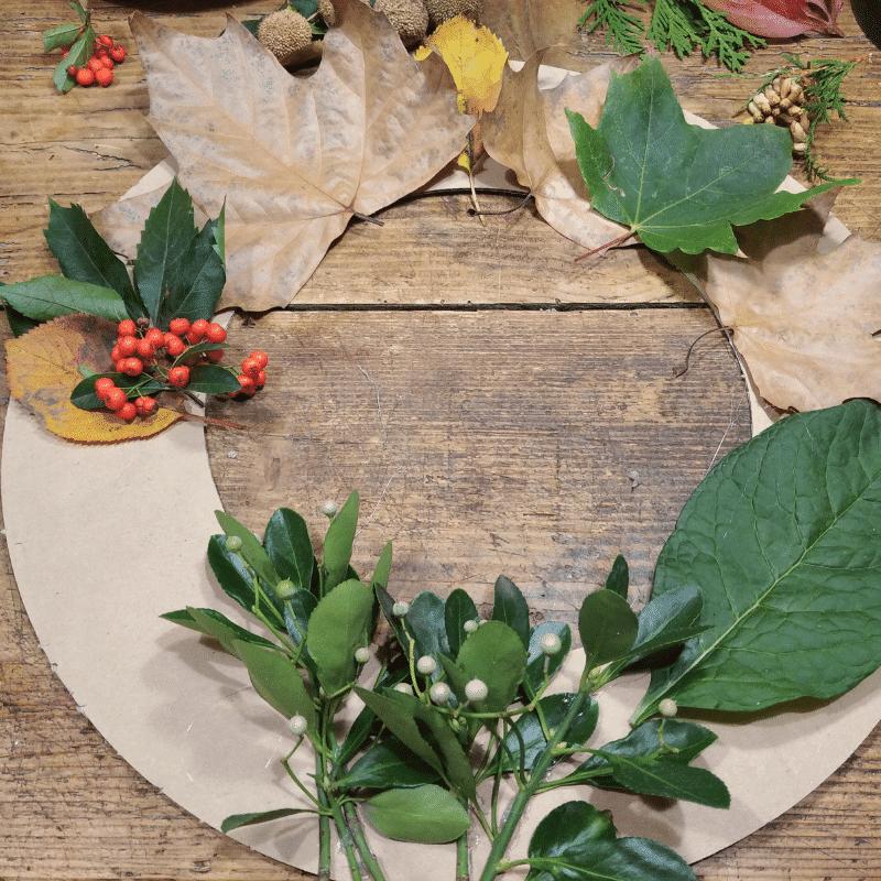 őszi levél koszorú